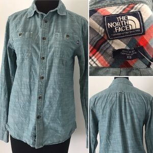 The North Face Denim Chambray Button Down